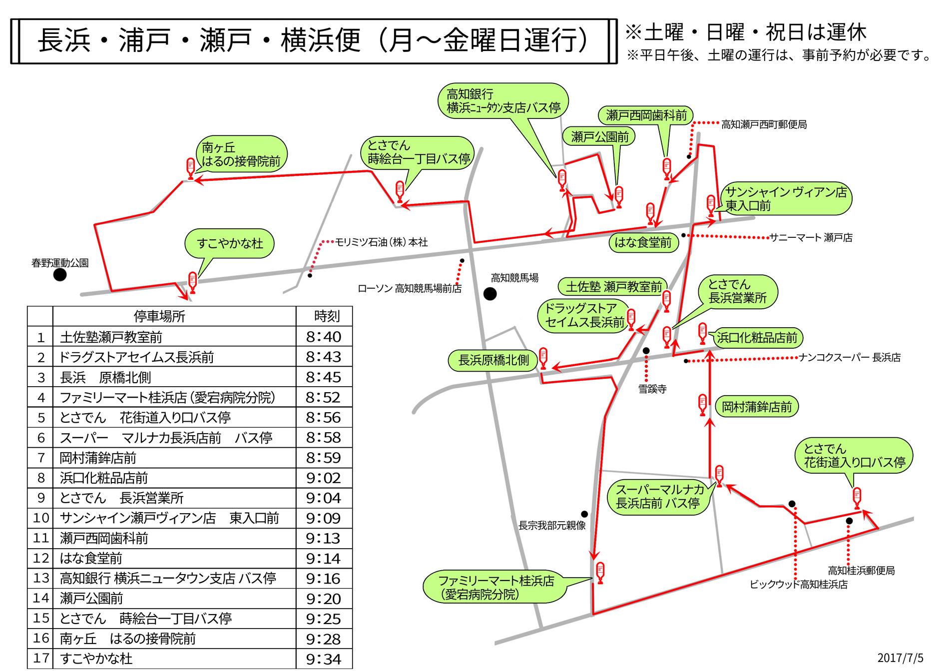 長浜/浦戸/瀬戸/横浜線